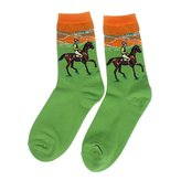 Famous Painting Art Printed Socks Womens Vintage Art Patterned Casual Crew by Jlong