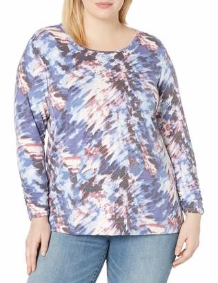 Amy Byer Women's Plus Size High Low Long Sleeve Top