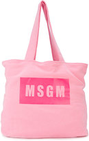 MSGM branded shoulder bag - kids - Cotton - One Size