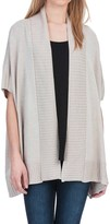 Lilla P Open Shawl Cardigan Sweater - Cotton-Modal, Short Sleeve (For Women)