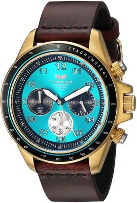 Vestal ZR2 Leather Stainless Steel Japanese-Quartz Watch Strap