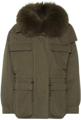 Yves Salomon Army fur-trimmed parka