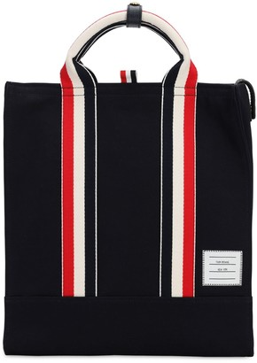Thom Browne Cotton Canvas Tote Bag