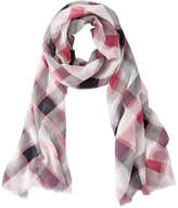 Joe Fresh Women's Plaid Scarf, Light Red (Size O/S)