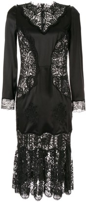 Dolce & Gabbana sheer lace panels dress