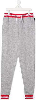 Little Marc Jacobs TEEN logo trim track pants