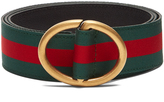 Gucci Oval-buckle Web-grosgrain belt