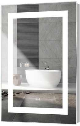 """M.O.D. Kent LED Mirror With Touch Sensor, 18""""x30"""""""