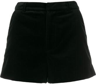 Zadig & Voltaire High-Waisted Velvet Shorts