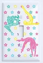 Single Toggle Gymnastic Light Switch Plates Covers / Dance Gymnastic Wall Decor (Single Toggle)