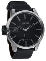 Nixon Men's Chronicle Analog Watch in Color: Antique Silver / Black