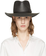 Rag & Bone Black Packable Straw Fedora