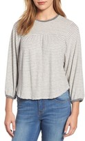 Velvet by Graham & Spencer Women's Vintage Stripe Jersey Peasant Top