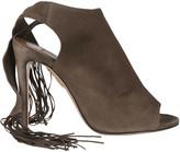 Aquazzura Fringed Detail Sandals