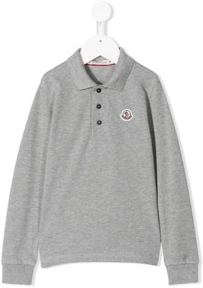 Moncler Enfant Long-Sleeve Polo Shirt
