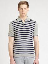 Saks Fifth Avenue Black Label Striped Polo