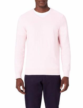 Amazon Brand - MERAKI Men's Lightweight Cotton V-Neck Jumper