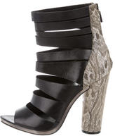 Rebecca Minkoff Leather Cutout Ankle Boots