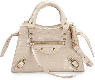 Balenciaga Neo Classic City Mini Supple Shiny Croco Satchel Bag