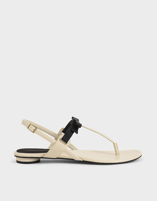 Charles & Keith Slingback Thong Sandals