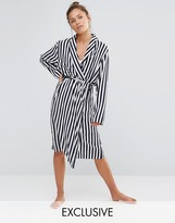 Chelsea Peers Striped Dressing Gown
