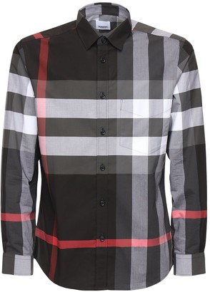 Burberry Somerton Stretch Cotton Poplin Shirt