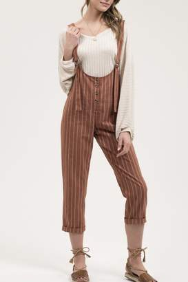 Blu Pepper Pinstripe Jumpsuit