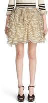 Alexander McQueen Women's Graphic Frill Knit Skirt