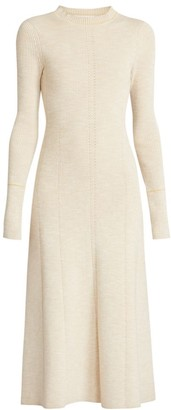 Victoria Beckham Knit Fit-&-Flare Midi Dress
