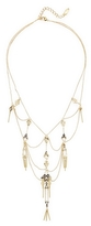 Noir Geometric Cut-Out Layer Necklace