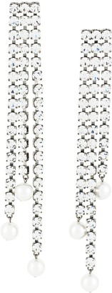 Christopher Kane Crystal Cascade Earrings