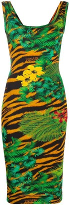 Versace Jungle-Print Fitted Dress