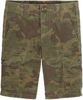 Joe Fresh Kid Boys' All Over Print Cargo Short, Army Green (Size 10)