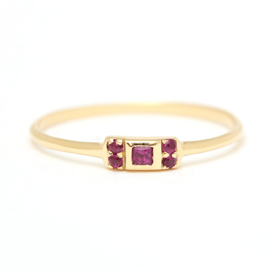 Margaret Elizabeth - Ruby Vivian Ring