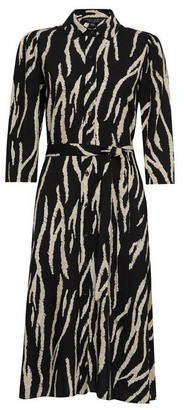 Dorothy Perkins Womens Monochrome Zebra Print Shirt Midi Dress