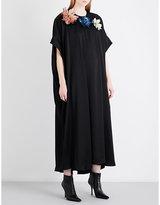 Christopher Kane Sequinned floral-appliqué satin dress