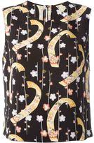 Saint Laurent kimono print top