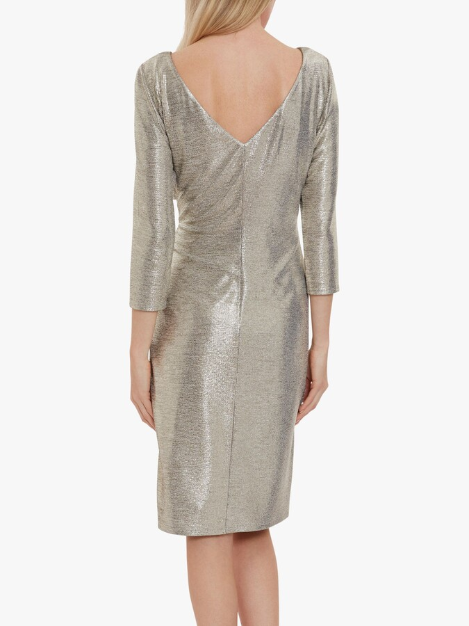Thumbnail for your product : Gina Bacconi Daya Metallic Jersey Dress