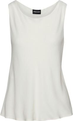 Giorgio Armani Fluted Silk-jersey Top