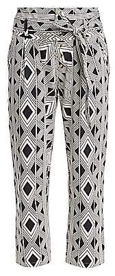 Figue Women's Bohemian Rhapsody Portia Twill Diamond Printed Pants