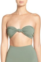 Mara Hoffman Knot Front Bandeau Bikini Top