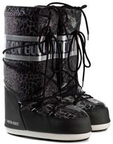 Moon Boot Black Sunset Snake Effect Moon Boots