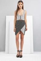 Forever 21 FOREVER 21+ FoxieDox Grid-Patterned Origami Skirt