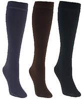 Muk Luks 3 Pairs Faux Mink Lined Trouser Socks