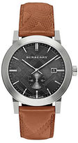 Burberry Stainless Steel Tan Check-Embossed Leather Strap Watch, BU9905