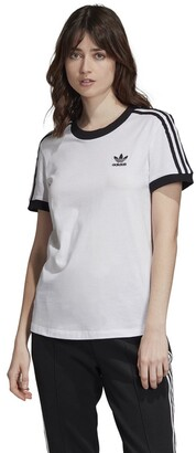 adidas Originals 3-Stripes T-Shirt in Cotton with Short Sleeves