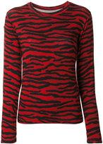 MM6 MAISON MARGIELA zebra print longsleeved blouse - women - Spandex/Elastane/Viscose - XS