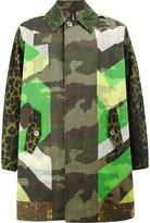 Herno x Pierre-Louis Mascia reversible print mix coat