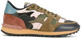 Valentino camouflage sneakers - women - Calf Leather/Polyester/rubber - 35