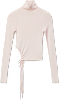Alexander Wang Ruched Wool Turtleneck